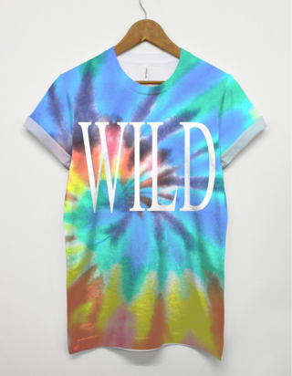 Wild-All-Over-Print-T-shirt-Urban-Top-Womens-Mens-Tie-Dye-Colourful-Hippy-Indie-371133429912